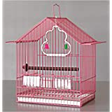 Pets Empire Bird Cage For Finch Canary Budgie Etc. - Small Bird Cage 30X23X48cm-Color May Vary