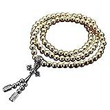 Bloomma Outdoor Self Defense 108 Buddha collana catena perline,lega con filo di acciaio gioielli in metallo rame frusta catena auto pendente autodifesa collana bracciale catena