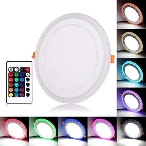 BLOOMWIN Doble color LED empotrable de techo Lámpara Downlights redondo 3 modos...