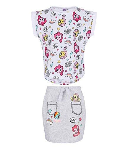 My Little Pony Fille T-shirt et jupe - blanc - 4 ans