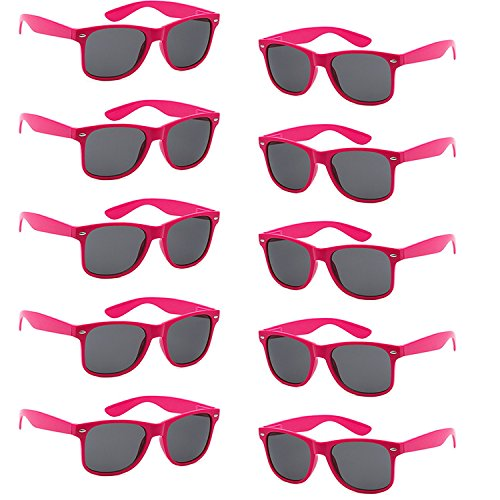 FSMILING Nerd Party Sonnenbrille UV400 Retro Design Stil -