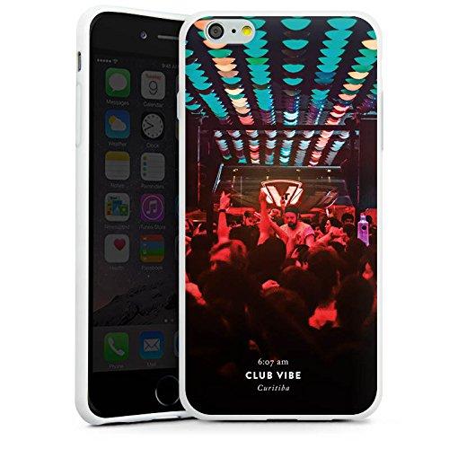 Apple iPhone X Silikon Hülle Case Schutzhülle Party House Techno Silikon Case weiß