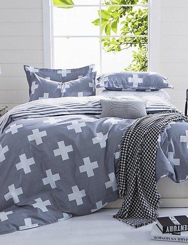 LIANGTT Ropa de cama, venuscross y tiras reina gris y de tamaño doble lijado sistemas del lecho 4pcs para niños y niñas ropa de cama china, twin