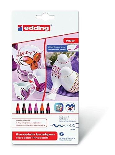 Edding 4200Porzellan Bürste Ben 1–4mm verschiedene Farben erhältlich Warm Colour Set