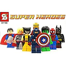 8pcs/set Marvel Avengers Super Hero Minifigures Building Blocks Sets by China