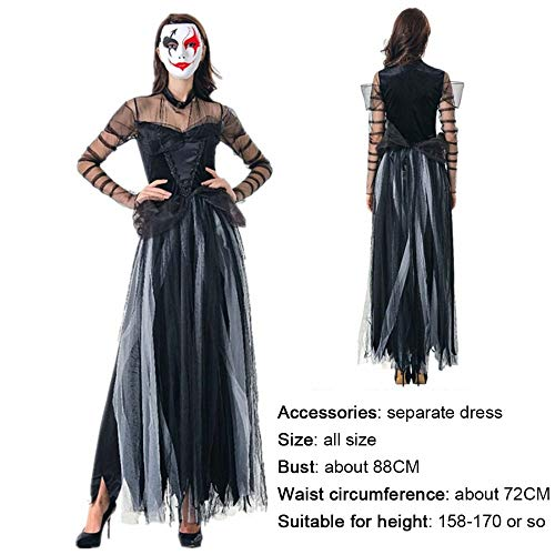 SPFAZJ Halloween-Kostüme Horror Ghost Bride Kostüm Spiel Kostüm Vampir Dämon Leistung Kostüm verloren