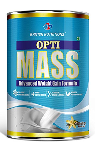 British Nutrition Opti-Mass Weight Gainer - 500 g (Vanilla)  available at amazon for Rs.471