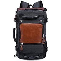 Hiking Backpack Canvas Backpack Laptop Backpack Rucksacks Large Capacity  Trekking Bag Duffel Handbag Camping Rucksack Travel 3bea39a51545d
