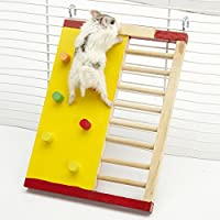 Carcasa de madera juego juguete de hámster de escalada escalera para mascotas pequeños animales enano Hamster, Rata Chinchillas Guinea Pig ardilla