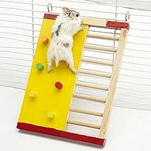 Carcasa de madera juego juguete de hámster de escalada escalera para mascotas pequeños animales enano Hamster