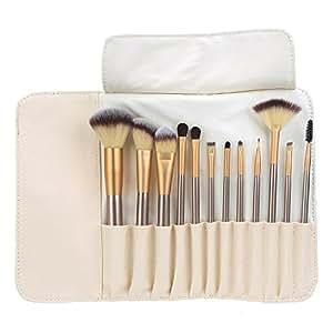 Abody 12Pcs Pennelli Make Up /Spazzola di trucco cosmetico professionale Brushs per Ombretto, Make Up Set con borsetta da viaggio