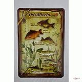 Blechschild Fische Friedfische Metallschild Deko Blech 404
