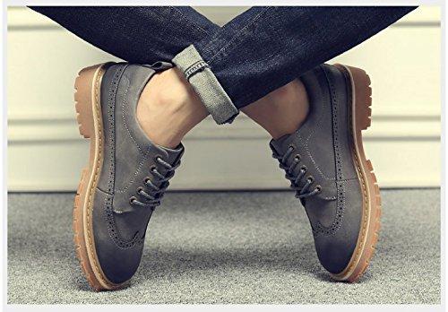 HL-PYL-Martin scarpe nuove coreano All-Match maschio bassa scarpe in pelle gray
