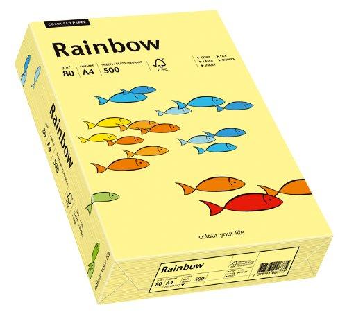 Papyrus 88042297 Druckerpapier, farbiges Kopierpapier, Bastelpapier Rainbow 80 g/m², A4 500 Blatt, matt, hellgelb -