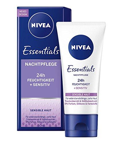 Nivea Sensitive Nachtpflege für Sensible Haut, 1er Pack (1 x 50 ml)