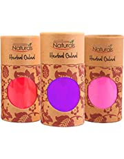 PartyHut Organic Herbal Gulal Friendly Scented Holi Colour Powder (Natural Skin, 100 g, Multicolour) - Pack of 6