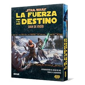 juegos de rol: Star Wars: La Fuerza y el Destino - Caja de Inicio, Juego de Mesa (Edge Entertai...