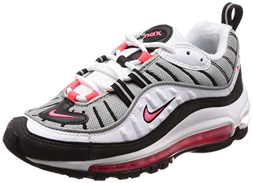 Nike Damen W Air Max 98 Gymnastikschuhe, Weiß (White/Solar Red/Dust/Reflect Silver 104), 38.5 EU - Vintage Frauen Nike Schuhe