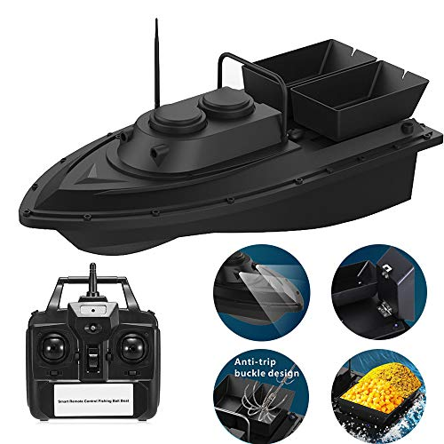 Zumint 2019 Latest Release Fishing Bait Boat Multifunctional Remote Control 2kg Loading - 2pcs Fish Tanks - Double Motor- 500M/1640FT Remote Control RC Fish Bait Boat
