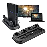 Ps4 Console Best Deals - Funnytoday365 Design Mutilfunction Cooling Fan Cooler Vertical Stand For Ps4 Playstation 4 Console Cooler With Charging Station