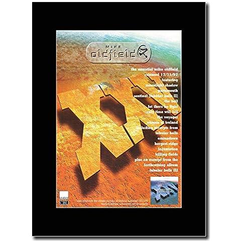 Mike Oldfield XXV Magazine-The Essential Promo su un supporto, colore: nero