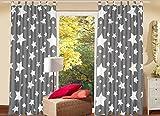 Schlaufenschal KAMACA 2er Set Gardine Dekoschal Stars All Over blickdichter Fensterschal Größe 140 x 240 cm EIN BLICKFANG in jedem Zimmer