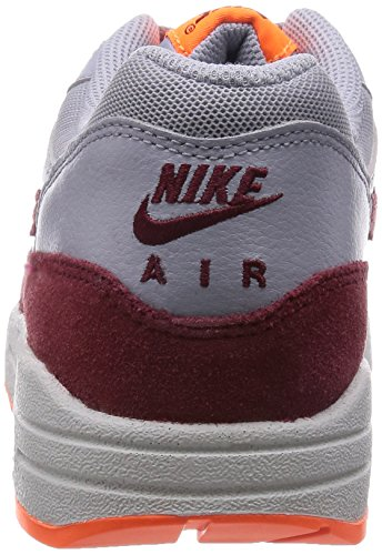 Nike - Air Max 1 Essential, Sneakers da donna Wlf Gry/Tm Rd-Ttl Orng-Smmt Wh