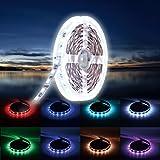 (Neue Vision) 5m LED Streifen 5050 300 LEDs Lichtband 12V Netzteil, 5050 SMD Strip Kit Flexibel erweiterbar dimmbar Licht Band Mehrfarbig Leiste RGB Lichtleiste