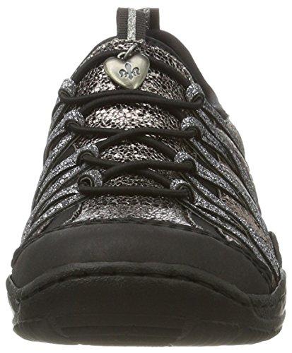 Rieker L0559, Sneakers Basses Femme Noir (Schwarz/altgold/altsilber/schwarz / 01)