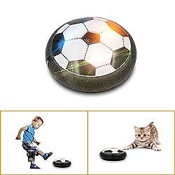 Farbe: Schwarz    Geeignetes Alter:  3-6 Jahre alt     Warum diesen Luft-Power-Fußball benutzen?   1.Small und flexibel, geeignet für  spielen im Zimmer .  2.Die schwache  Crash Gürtel verhindert  Schäden an Möbeln und Wänden etc.  3.Colorful LED-...