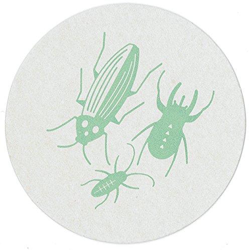 ecyceltem pulpboard Untersetzer, Party Geschirr, Made in America von Revel & Co Bugs ()