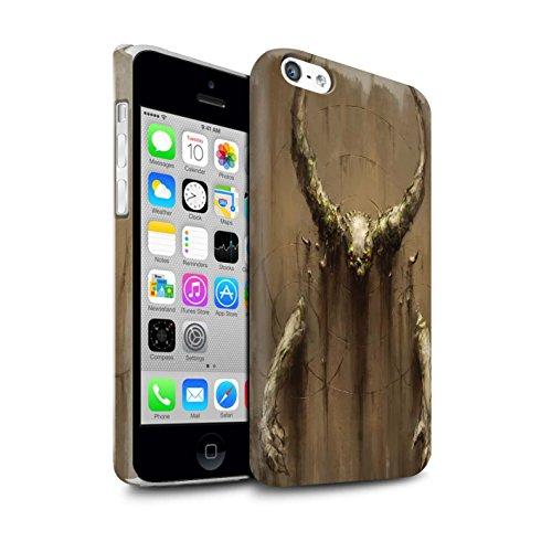 Offiziell Chris Cold Hülle / Matte Snap-On Case für Apple iPhone 5C / Pack 10pcs Muster / Dunkle Kunst Dämon Kollektion Hörner