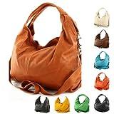 Produkt-Bild: modamoda de - ital. Ledertasche Damenhandtasche Schultertasche Damentasche Nappaleder DS26