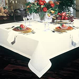 TABLE COVER/ 100% THICK COTTON/ 178 X 220 CM LARGE SIZE/ IVORY