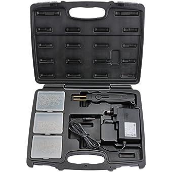 Draper 6473820W Hot agrafeuse en plastique Kit–Noir