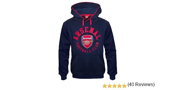 homme Pull graphique /à capuche th/ème football polaire bleu Arsenal FC officiel