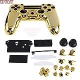 XFunny Gehäuse Game Front Back Controller Shell Poliert Glänzend Schutzhülle Cover Schutzhülle für Sony Playstation 4 PS4 Controller Gold