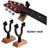 Crusader Natural Wooden Guitar Hanger Hook Holder Wall Mount for Bass Violin Ukelele Space-saving Easy- Install Guitar Parts Accessories Wall Hanger (Used for: Acoustic Guitar)
