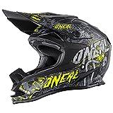 O'Neal 7Series MX Helm Evo Manace Motocross Enduro Offroad Quad Cross, 0578-5, Farbe Hi-Viz Gelb, Größe S