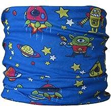 TALLA INFANTI braga para el cuello, pañuelo de microfibra multifunción, diseño de cósmico