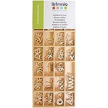 Artemio alfabeto legno 162/Pkg-Natural. 51