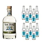 The Duke Munich Dry Gin (1 x 0.7 l) mit Fever Tree Mediterranean (10 x 0.2 l)