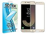 SDTEK Verre Trempé pour Samsung Galaxy J5 2017 Couverture Complète Protection écran Film Résistant aux éraflures Glass Screen Protector Vitre Tempered (Or)