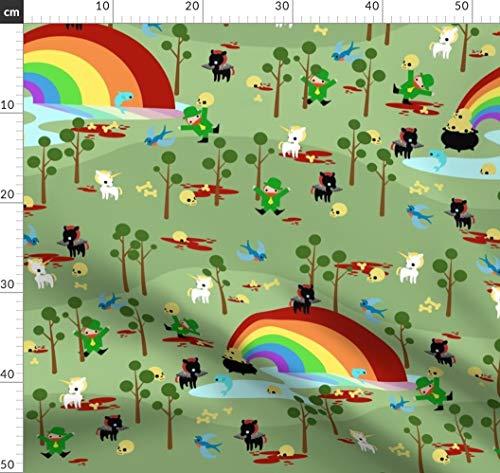 Kobold, St. Patricks Day, Irland, St. Patrick, Kobolde, Nerd Stoffe - Individuell Bedruckt von Spoonflower - Design von Thirdhalfstudios Gedruckt auf Leichter Baumwoll Twill