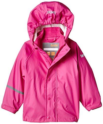 CareTec Kinder wasserdichte Regenjacke (verschiedene Farben), Rosa (Real pink 546), 74 (Mantel Rosa Mädchen)
