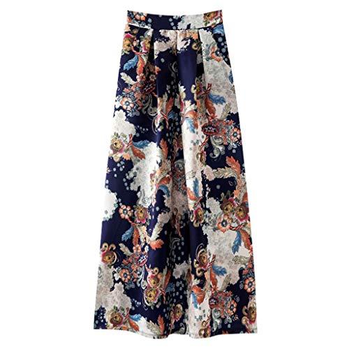 9b752bd1ad ZARLLE Primavera y Verano Mujer Faldas Largas Verano Playa Elegantes  Vintage Hippies Boho Impresa Falda Cintura