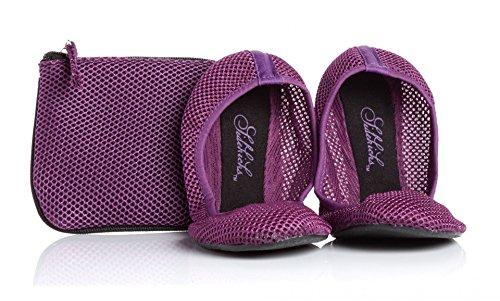 Sidekicks , Damen Ballerinas violett - Club Wohnung Schuhe