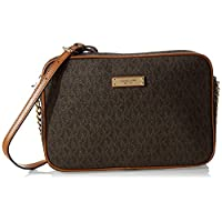 Michael Kors Jet Set Travel Logo Crossbody Bag for Women-Brown