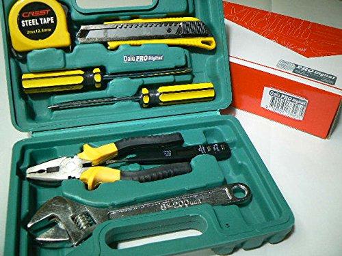 ProDigital Kit Base Profi Eisenwaren im Koffer: Zange, Schraubenschlüssel, verschiedenen Schraubendreher Maßband, ausziehbar, Spannungsprüfer und Messgerät und ACC. verschiedenen