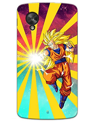 Google Nexus 5 Cases & Covers - Dragon Ball Z Goku Raging Blast Case by myPhoneMate - Designer Printed Hard Matte Case - Protects from Scratch and Bumps & Drops.  available at amazon for Rs.499
